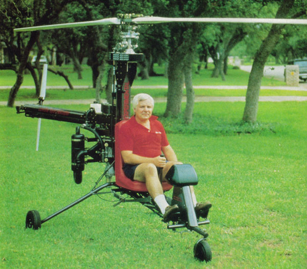 Ken Rehler With The Original Prototype LoneStar Kit Helicopter