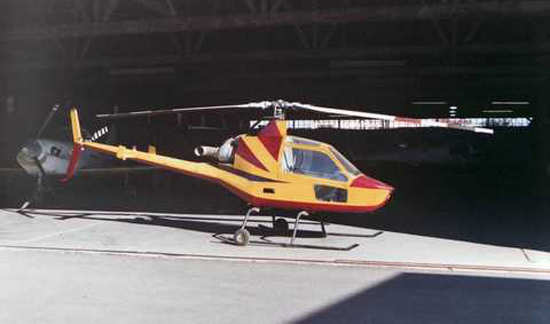Painted RotorMouse turbine homebuilt helicopter