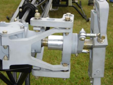 Tail rotor pitch control detail Chief helicopter