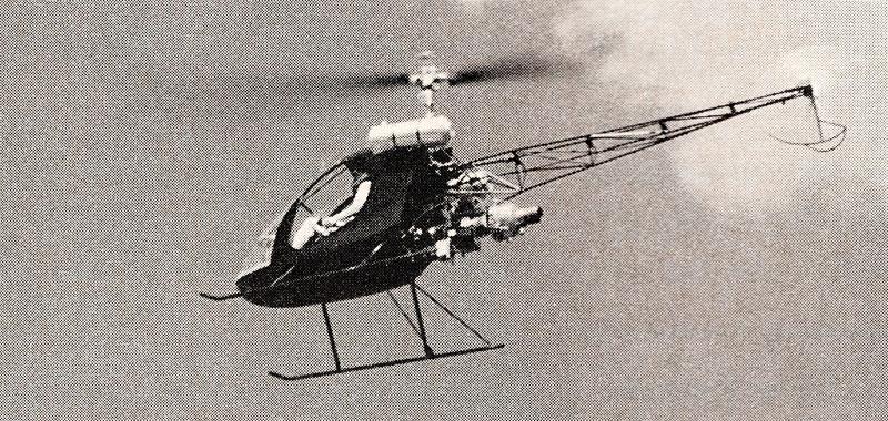 Turbine powered Predator kit helicopter flying