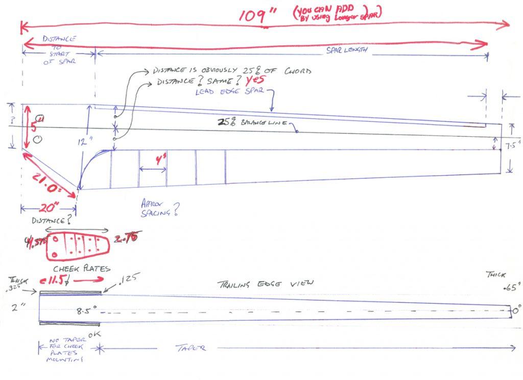 Rotordyne helicopter rotorblade drawings