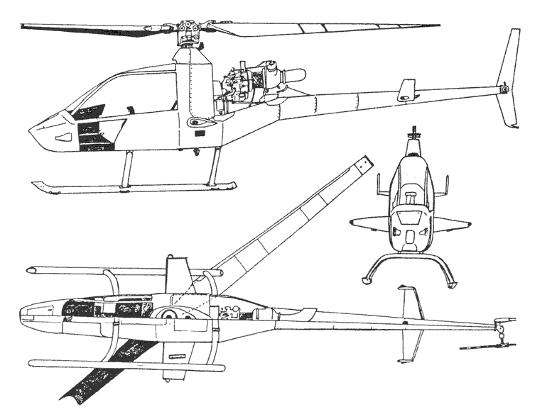 RotorMouse Helicopter Drawing