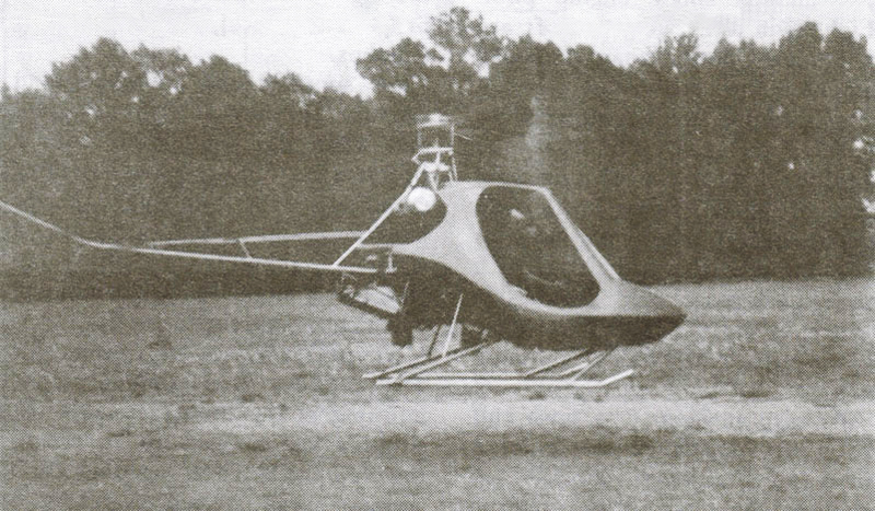 Scorpion helicopter hovering