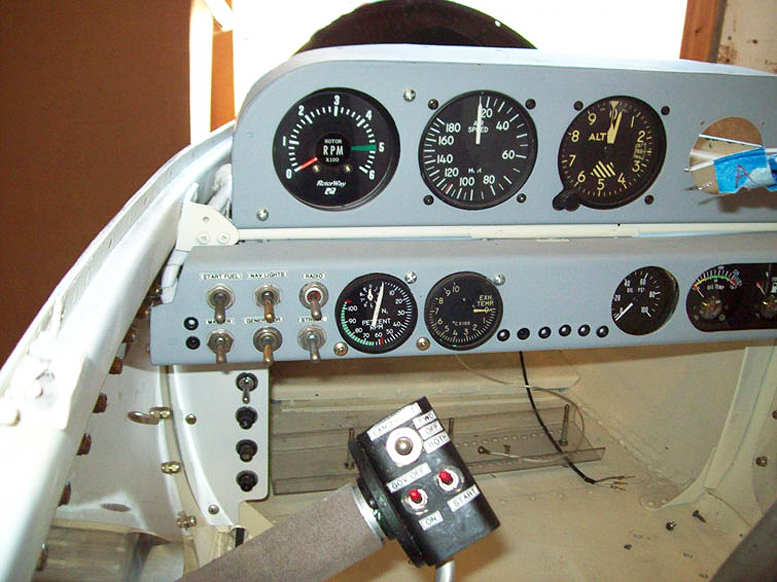 SkyShark helicopter instruments close up
