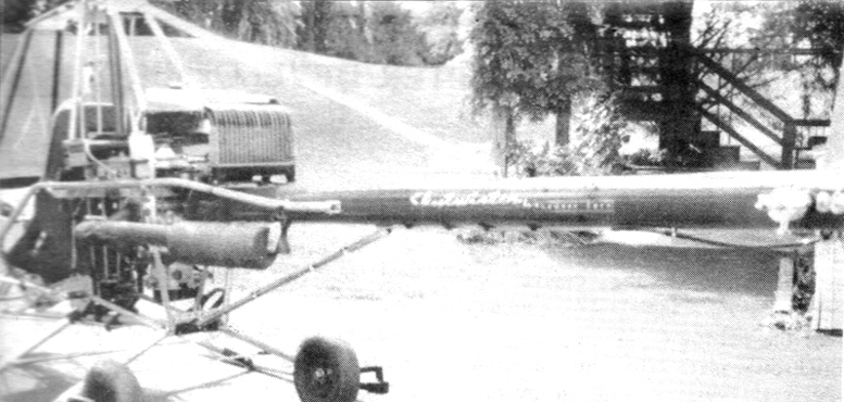 SkyTwister helicopter with bent radiator