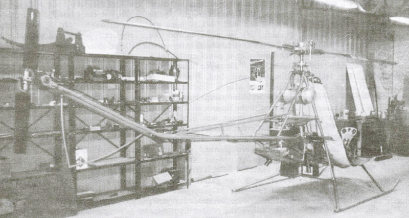 Scorpion 1 Experimental Kit Helicopter - rear view
