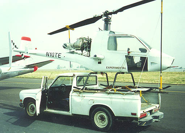 RotorMouse helicopter being transported