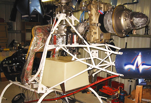 Turbine powered two seat kit helicopter
