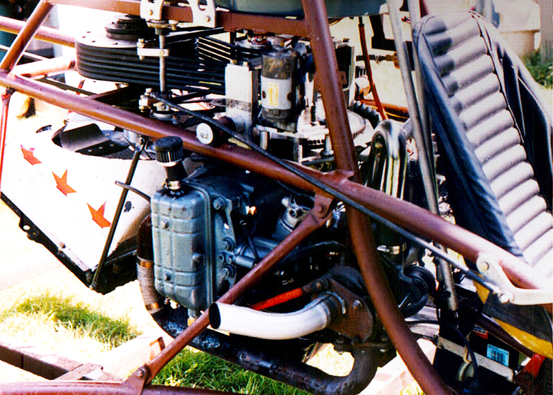 EA81 Turbo Charger On Single Seat Experimental Helicopter