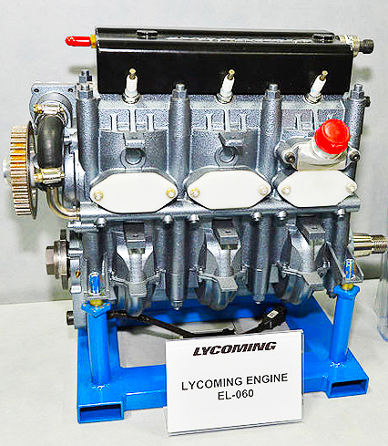 Airshow display of the Lycoming EL 060 engine