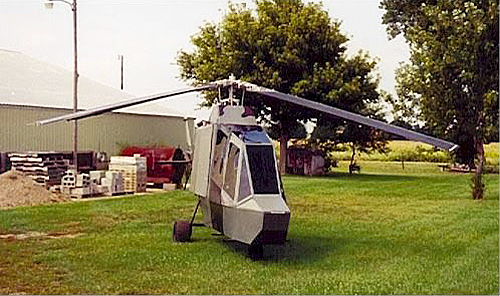 Cheetah helicopter front view