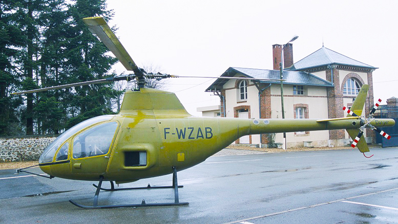 Citroen developed wankel rotary powered helicopter