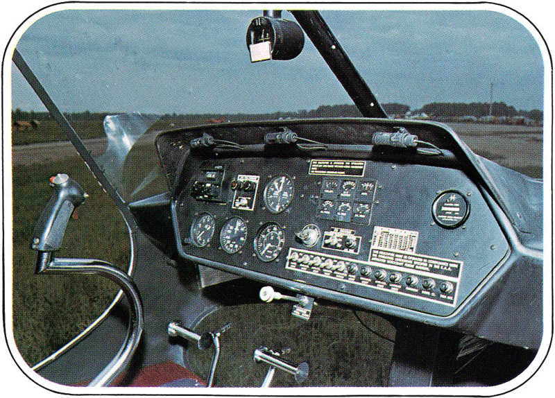 Early Enstrom helicopter instrument panel