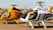 Flying Rotorway Exec-90 helicopter
