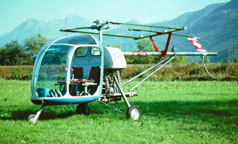 HB-YAK Switzerland registered rotary engine helicopter BX-110