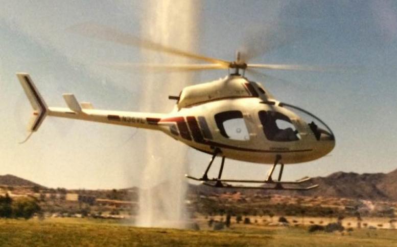 Hovering WindStar helicopter