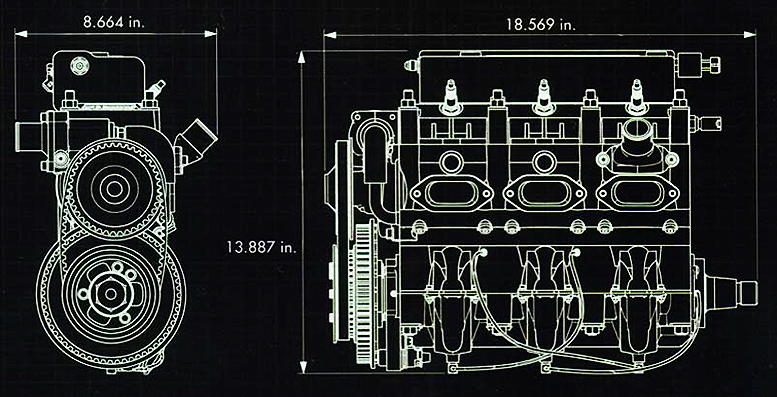 Lycoming EL 060 engine dimensions