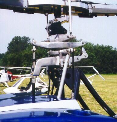 Mazda Scorpion helicopter rotorhead swashplate