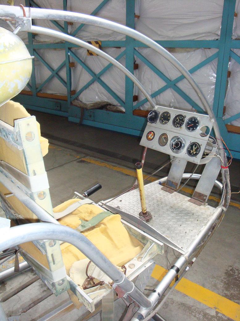 Murray Model T Homebuilt Helicopter cockpit