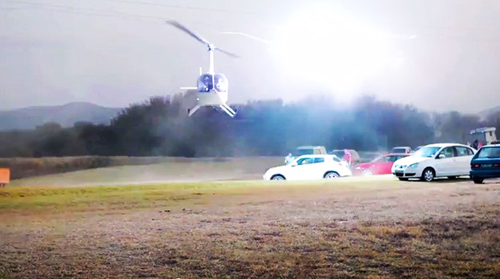 Robinson helicopter powerline strike