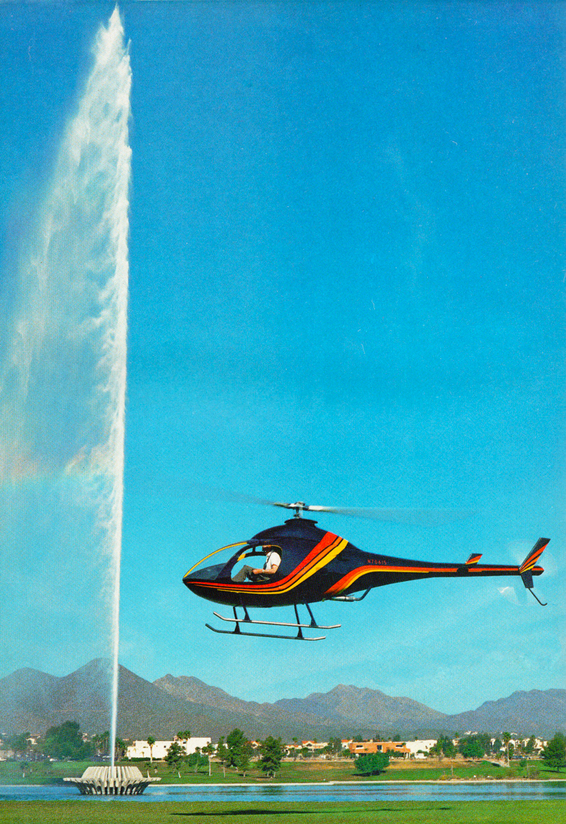 Rotorway Elete Helicopter hovering