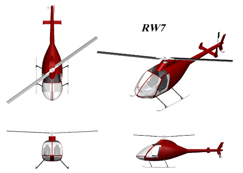 Rotorway RW7 helicopter drawings