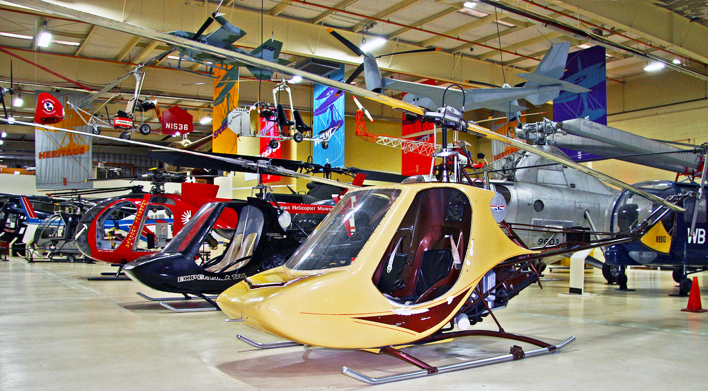 Rotorway Scorpion helicopter museum display