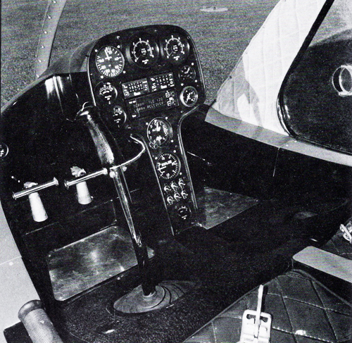 Rotorway elete helicopter cockpit
