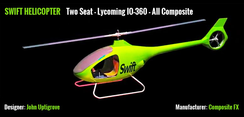 Swift helicopter design by John Uptigrove