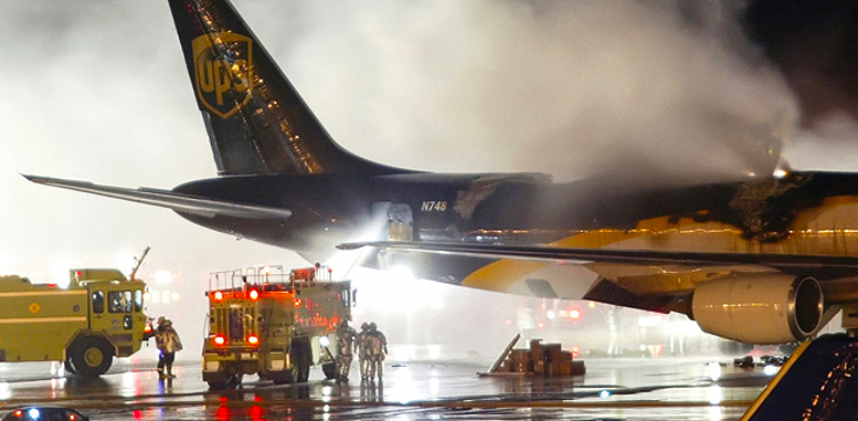 UPS aircraft lithium battery fire