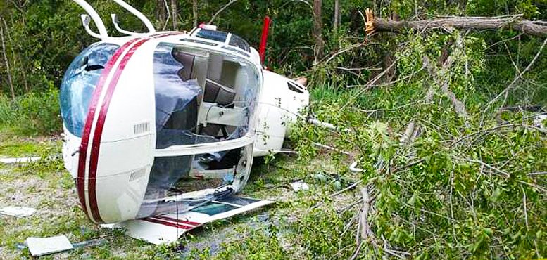 Helicopter bush crash survival