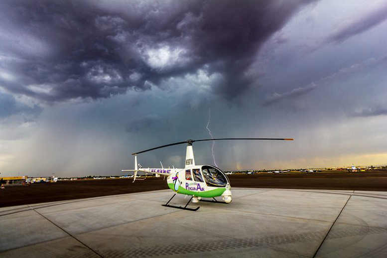 Helicopter weather forecast