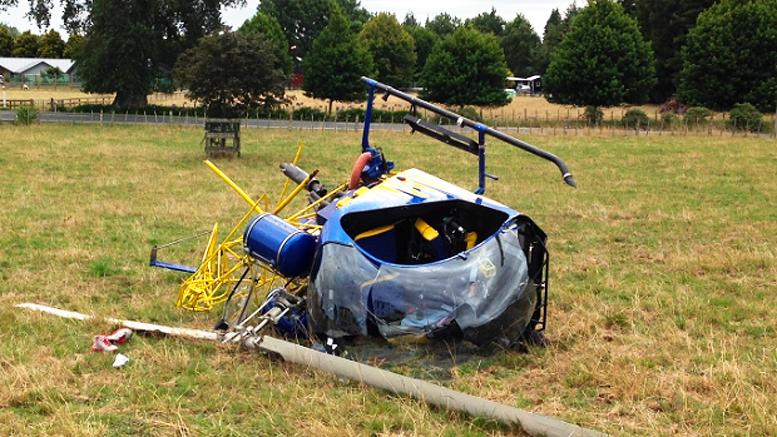 Pilot survives Safari helicopter crash