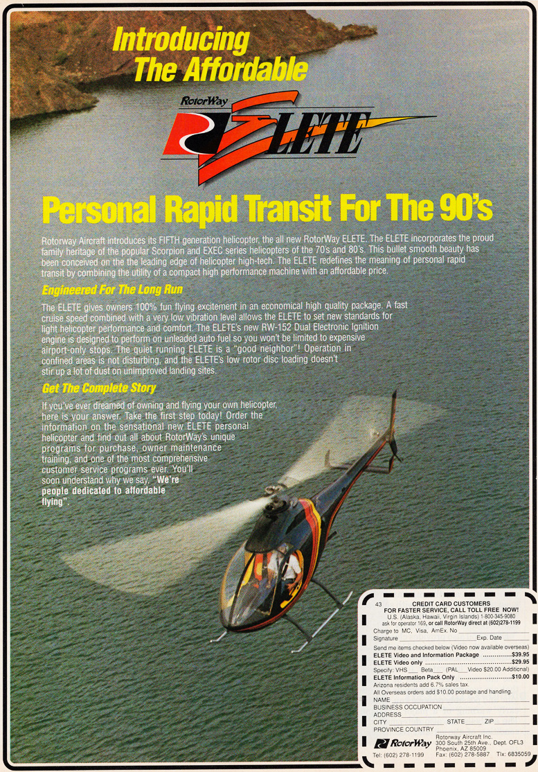 rotorway elite helicopter ad