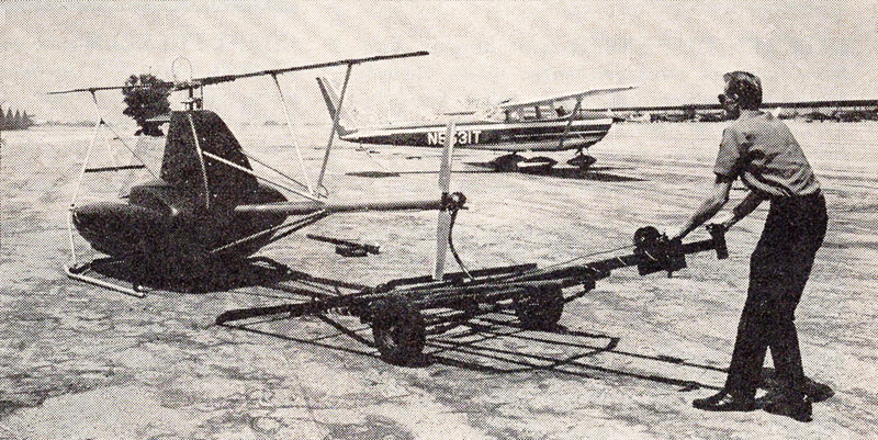 transporting javelin one man helicopter