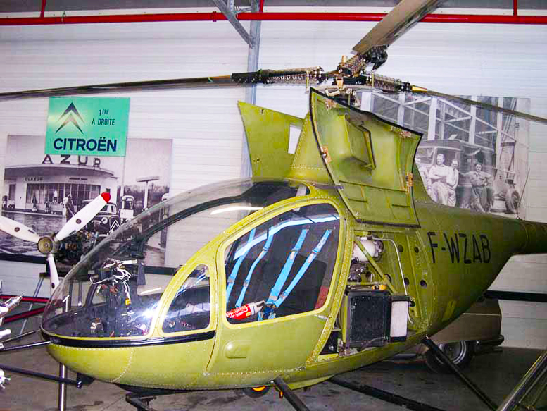 Two seat rotary powered helicopter