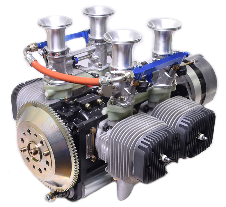Two stroke experimental aircraft engine