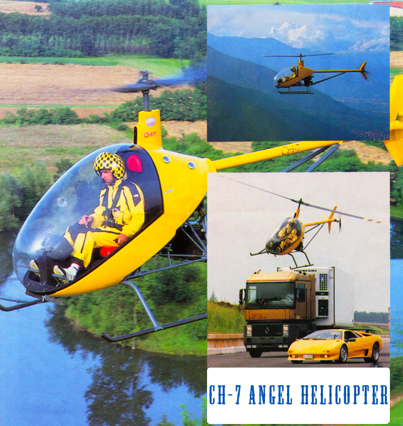 CH7 Angel helicopter kit flying
