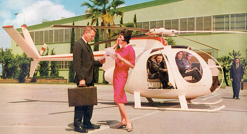 Early Huges 500 helicopter