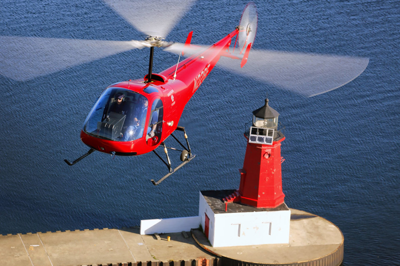 Enstrom helicopter coastal flying