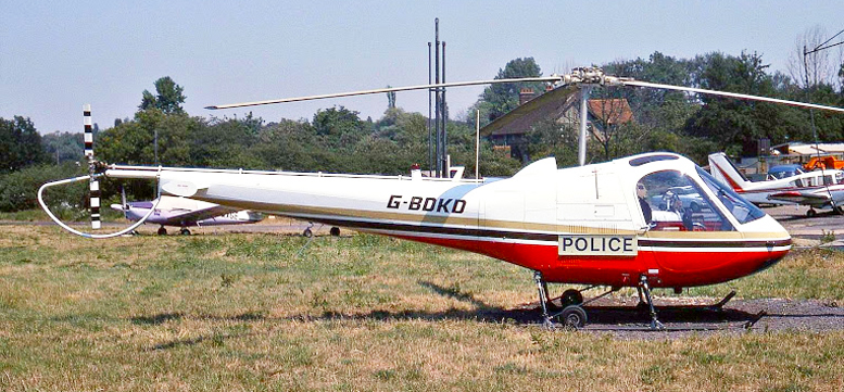 Enstrom police helicopter