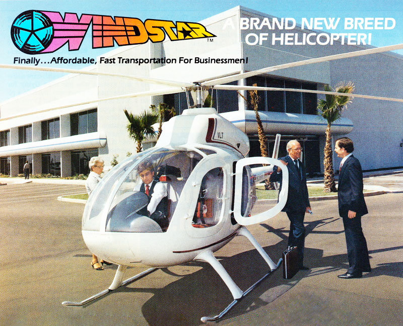 Executive businessmen windstar helicopter