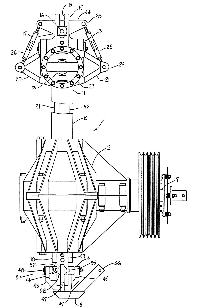 mini 500 Helicopter swashplate patent 5163815 figure 1