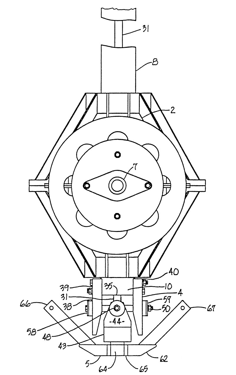 Helicopter swashplate patent 5163815 figure 2