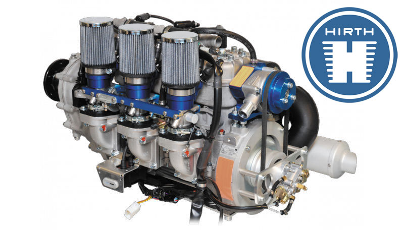 Hirth 100 hp two stroke engines
