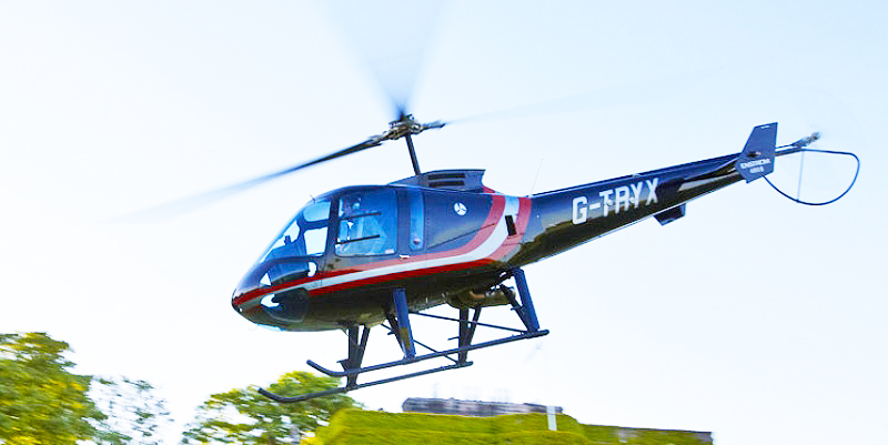 Luxury F28 Enstrom helicopter