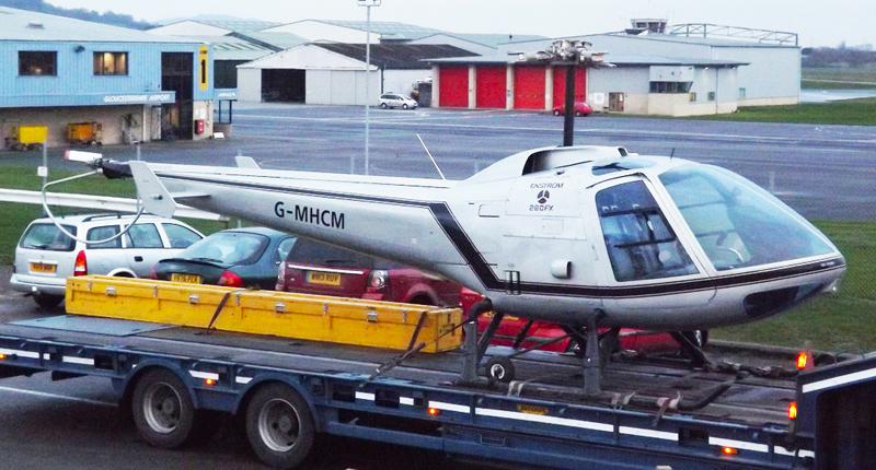 Road transport Enstrom helicopter