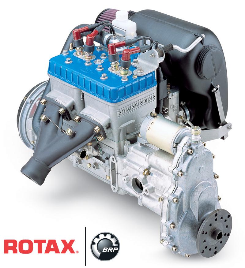 Rotax 582 two stroke ultralight engine