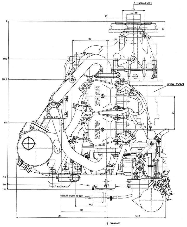 Rotax 912 UL four stroke aircraft engine