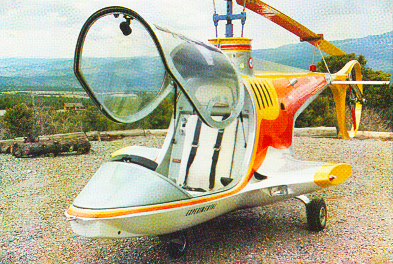 Single seat composite helicopter concept by Canadian Home Rotors